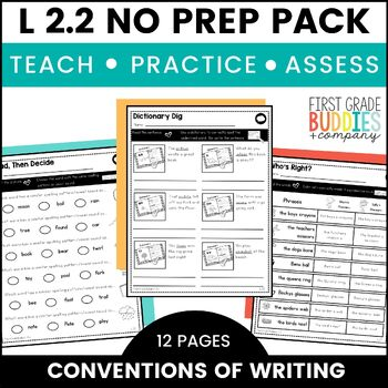 Print a Standard L 2.2  {Grammar: Capitalization and Punctuation} No Prep Pack