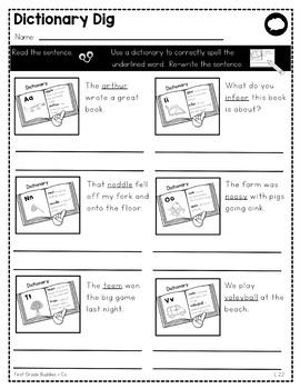 writing conventions l 2 2 no prep tasks assessment worksheets. Black Bedroom Furniture Sets. Home Design Ideas