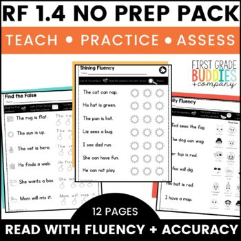 Print a Standard RF 1.4 {Fluency and Accuracy} No Prep Activities + Assessments