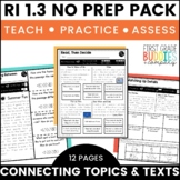 Print a Standard RI 1.3 {Connections in the Text} Activities + Assessments