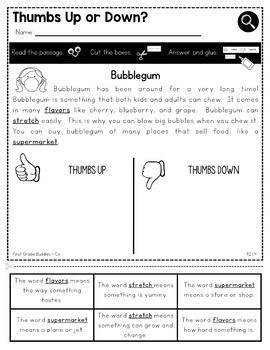 Print a Standard RI 1.4 {Clarify Vocabulary} No Prep Activities + Assessments
