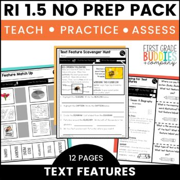 Print a Standard RI 1.5 {Locate and Use Text Features} No Prep Pack