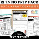 Print a Standard RI 1.5 {Locate & Use Text Features} Activities + Assessments