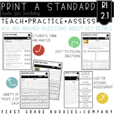 Ask and Answer Questions | RI 2.1 | No Prep Tasks | Assessment | Worksheets