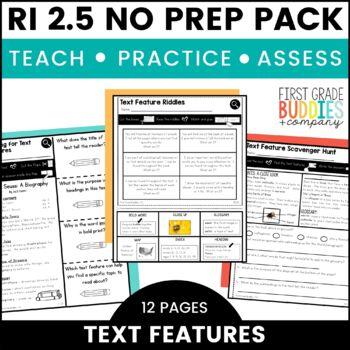 Print a Standard RI 2.5 {Text Features} No Prep Pack