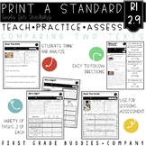 Compare and Contrast Texts | RI 2.9 | No Prep Tasks | Assessment | Worksheets