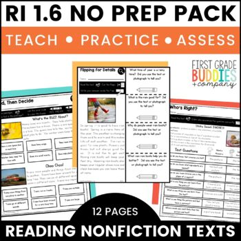 Print a Standard RI 1.6 {Distinguish Info from Illustrations, Text} No Prep Pack