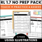 Characters, Setting, Events | RL 1.7 | No Prep Tasks | Assessment | Worksheets