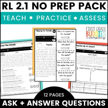 Print a Standard RL 2.1 {Ask, Answer Q's About Details in Text} No Prep Pack