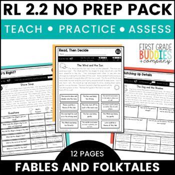 Fables   RL 2.2   No Prep Tasks   Assessment   Worksheets