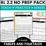 Fables | RL 2.2 | No Prep Tasks | Assessment | Worksheets