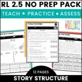 Story Structure | RL 2.5 | No Prep Tasks | Assessment | Worksheets