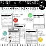 Print a Standard RL 2.6 {Character's Point of View} Activities + Assessments