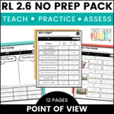 Character Point of View | RL 2.6 | No Prep Tasks | Assessment | Worksheets