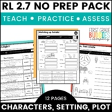 Print a Standard RL 2.7 {Characters, Setting, and Plot} Activities + Assessments