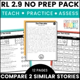 Compare and Contrast Stories | RL 2.9 | No Prep Tasks | Assessment | Worksheets