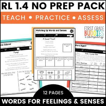 Print a Standard RL 1.4 {Feeling Words / Words Appeal to Senses} No Prep Pack