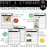 Tell and Recount Stories   SL 2.4   No Prep Tasks   Assessment   Worksheets