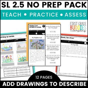 Details That Clarify | SL 2.5 | No Prep Tasks | Assessment | Worksheets