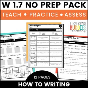 How To Writing | W 1.7 | No Prep Tasks | Assessment | Worksheets
