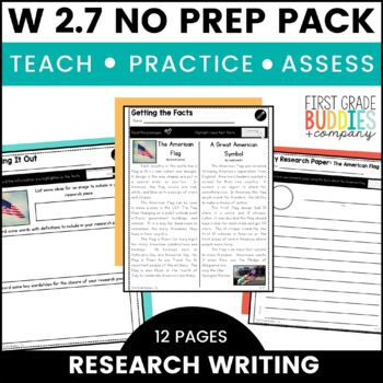 Research Writing | W 2.7 | No Prep Tasks | Assessment | Worksheets