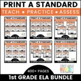 1st Grade ELA Curriculum Companion | No Prep Tasks | Asses