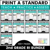 2nd Grade Informational Text Standards | No Prep Tasks | Assessment |Worksheets