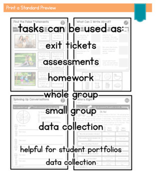 Print a Standard for ELA {Language BUNDLE} 50+ No Prep Activities