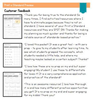 Print a Standard for 1st Gr. {LANGUAGE BUNDLE} Over 40 Activities + Assessments