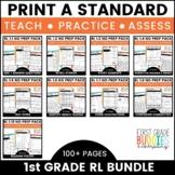 1st Grade Reading Lit Standards | No Prep Tasks | Assessment | Worksheets