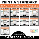 1st Grade Reading Lit Standards   No Prep Tasks   Assessment   Worksheets