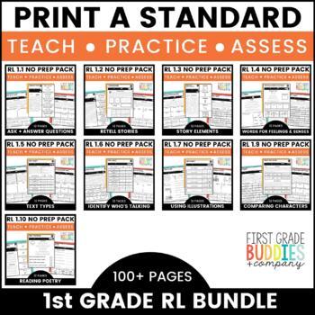 1st Grade Reading Literature No Prep Tasks for Instruction and Assessment Bundle