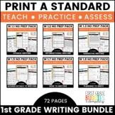 1st Grade Writing Standards | No Prep Tasks | Assessment | Worksheets