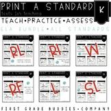 Kindergarten ELA Curriculum Companion | No Prep Tasks | Assessment | Worksheets