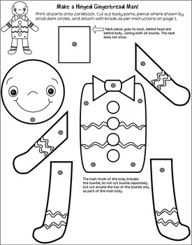 Movable, Hinged Gingerbread Man