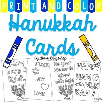 photograph regarding Printable Hanukkah Cards identified as Print and Shade Hanukkah Playing cards