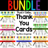 Print and Color Thank You Cards BUNDLE