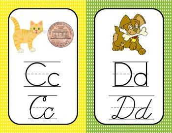 Print and Cursive Alphabet Cards
