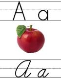 Print and Cursive Alphabet Tiles