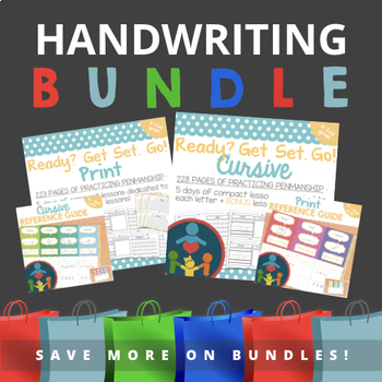 Orton- Gillingham Handwriting Practice Bundle - Print and Cursive Packets