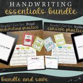 Handwriting Practice Bundle - Print and Cursive Essential Packet