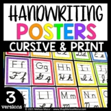 Print and Cursive Handwriting Posters
