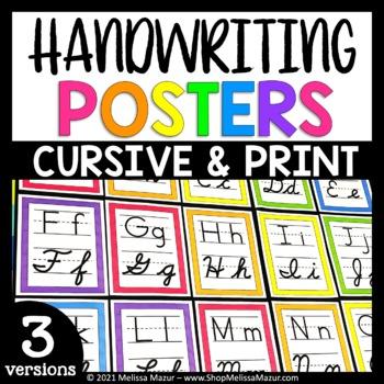 Print and Cursive Handwriting Posters