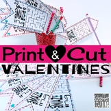 Print and Cut Valentine's Day Cards