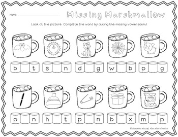 Let It Snow! ...A No Prep Math & Literacy Pack for Winter & Christmas