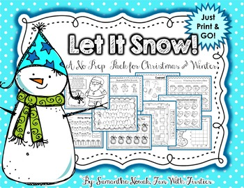 Let It Snow! ...A No Prep Math & Literacy Pack for Winter