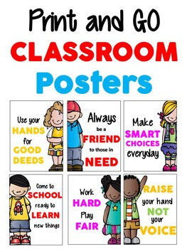 Print and GO Classroom Posters