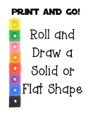 Print and Go 3d - Solid- and 2d- Flat- Shape Dice Roll -It
