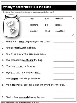 Print and Go Activity Set: Practicing Synonyms