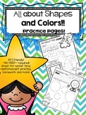 *PRINT and GO*  All About Shapes and Colors